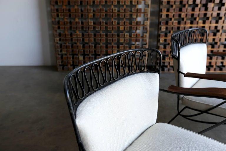 "American Rare Pair of ""Ribbon"" Lounge Chairs Maurizio Tempestini for Salterini For Sale"