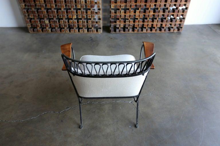 "20th Century Rare Pair of ""Ribbon"" Lounge Chairs Maurizio Tempestini for Salterini For Sale"