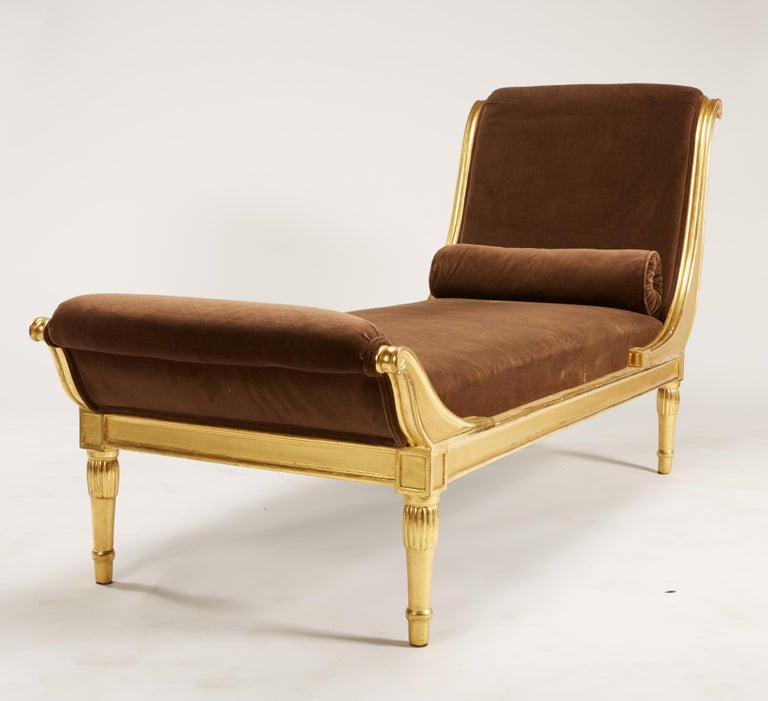 Rare Pair of 1920 French Deco Giltwood Chaises by L'Atelier d'Art du Printemps In Good Condition For Sale In St. Louis, MO