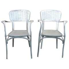 Rare Pair of 1940s French Aluminium Dining/Side Chairs