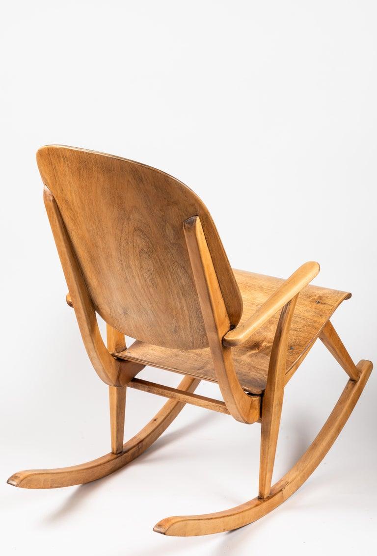 Rare Pair Of 1940s Rocking Chairs By Ilmari Tapiovaara For