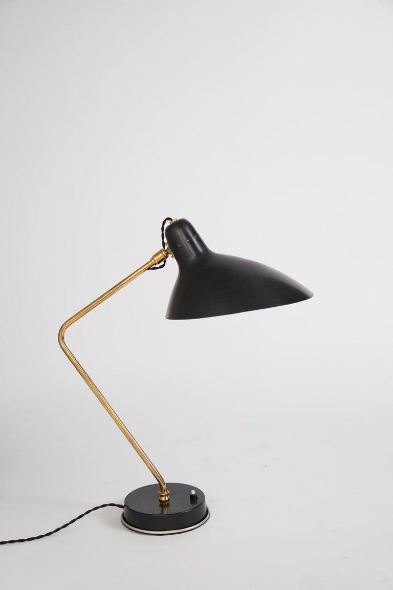 Rare Pair of 1950s Jean Boris Lacroix Table Lamps For Sale 2