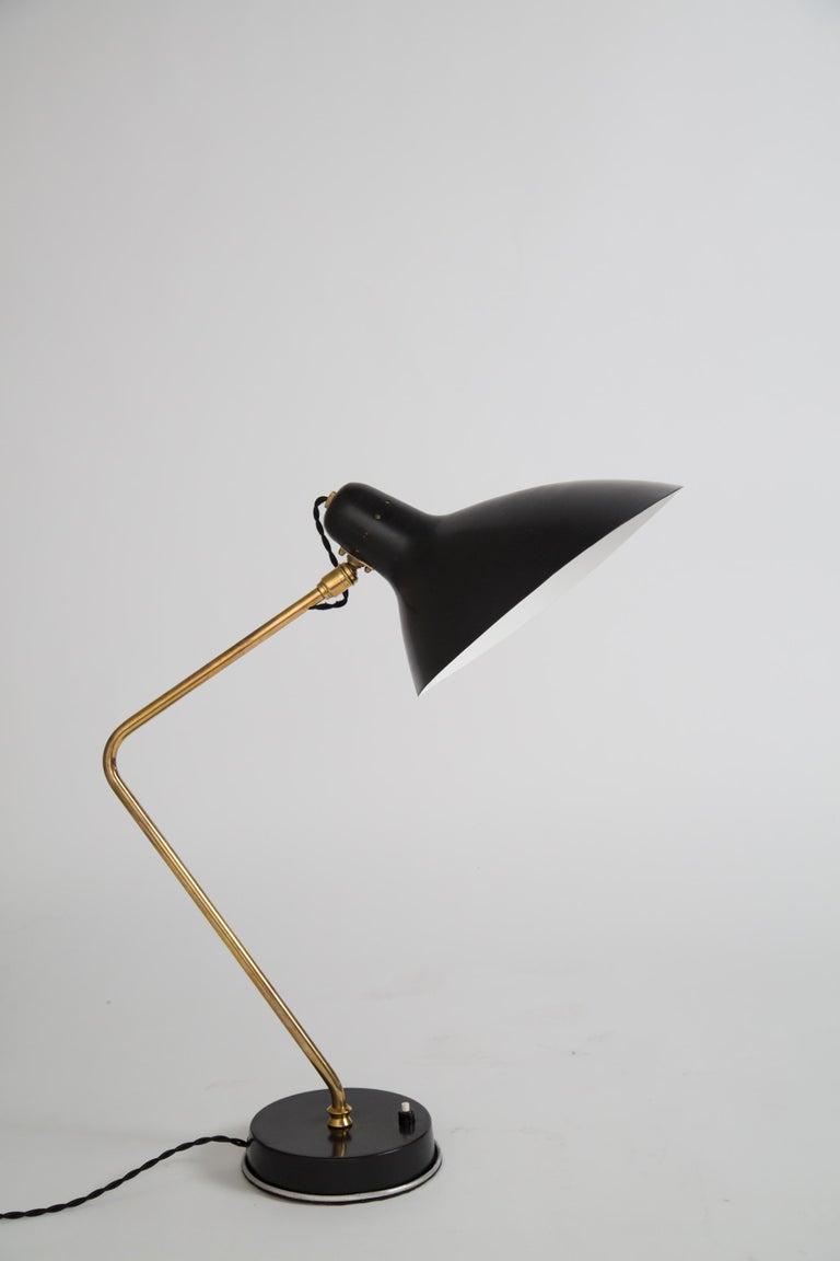 Rare Pair of 1950s Jean Boris Lacroix Table Lamps For Sale 3