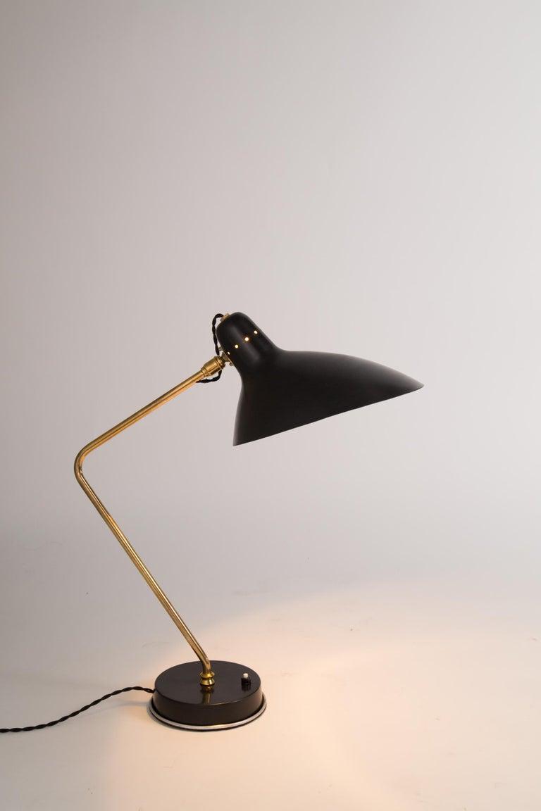 Rare Pair of 1950s Jean Boris Lacroix Table Lamps For Sale 4