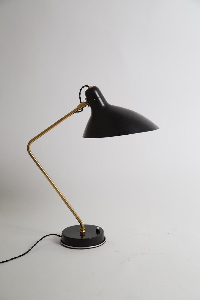 Rare Pair of 1950s Jean Boris Lacroix Table Lamps For Sale 5