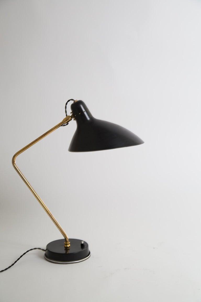 Rare Pair of 1950s Jean Boris Lacroix Table Lamps For Sale 6