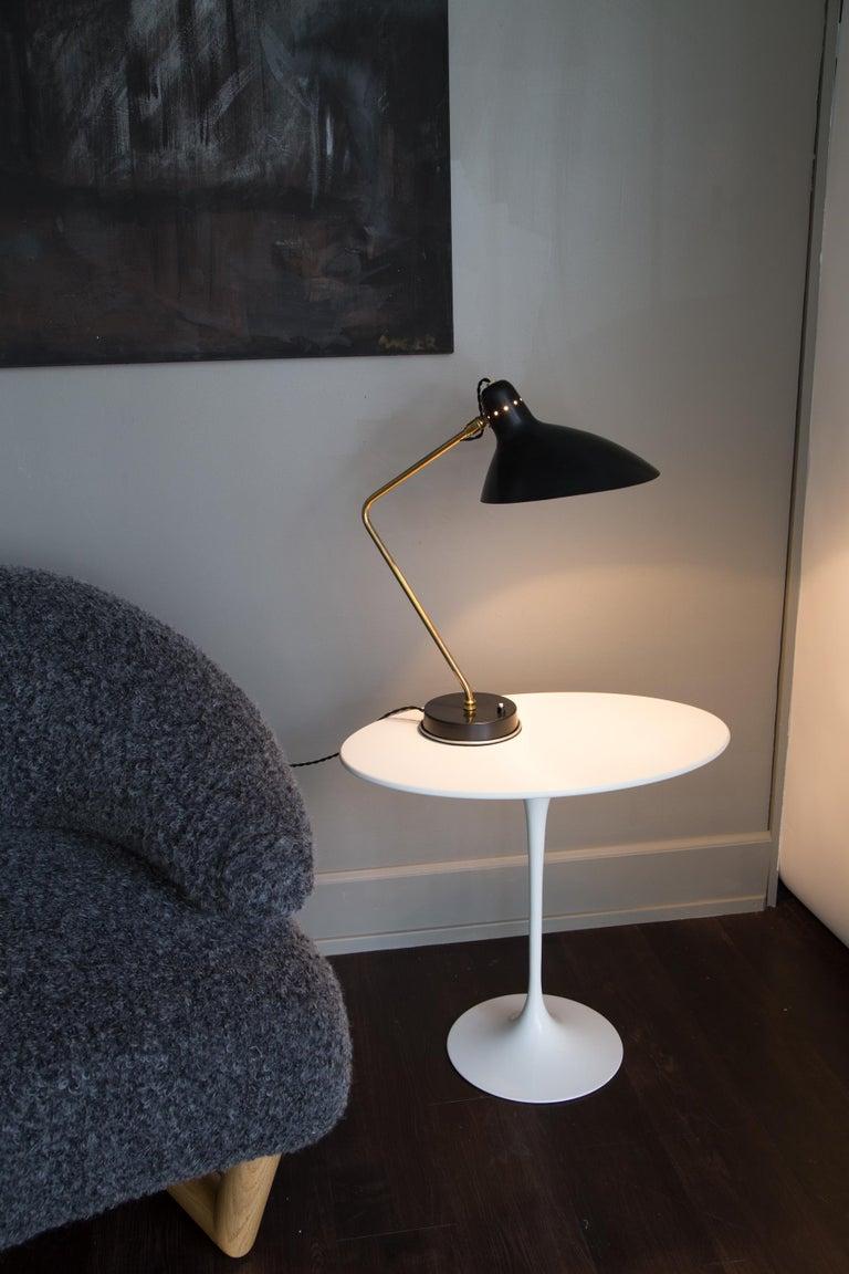 Mid-Century Modern Rare Pair of 1950s Jean Boris Lacroix Table Lamps For Sale