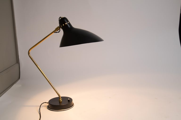Mid-20th Century Rare Pair of 1950s Jean Boris Lacroix Table Lamps For Sale