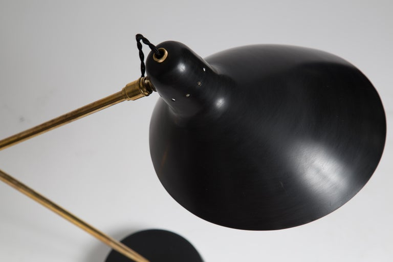 Metal Rare Pair of 1950s Jean Boris Lacroix Table Lamps For Sale