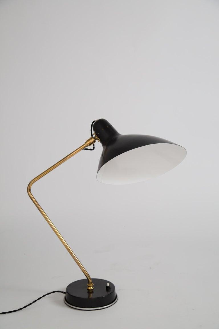 Rare Pair of 1950s Jean Boris Lacroix Table Lamps For Sale 1