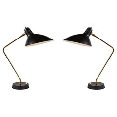Rare Pair of 1950s Jean Boris Lacroix Table Lamps
