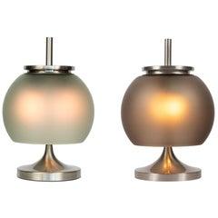 Rare Pair of 1962 Emma Gismondi 'Chi' Table Lamps for Artemide