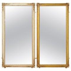Rare Pair of 19th Century Full Size Mirrors