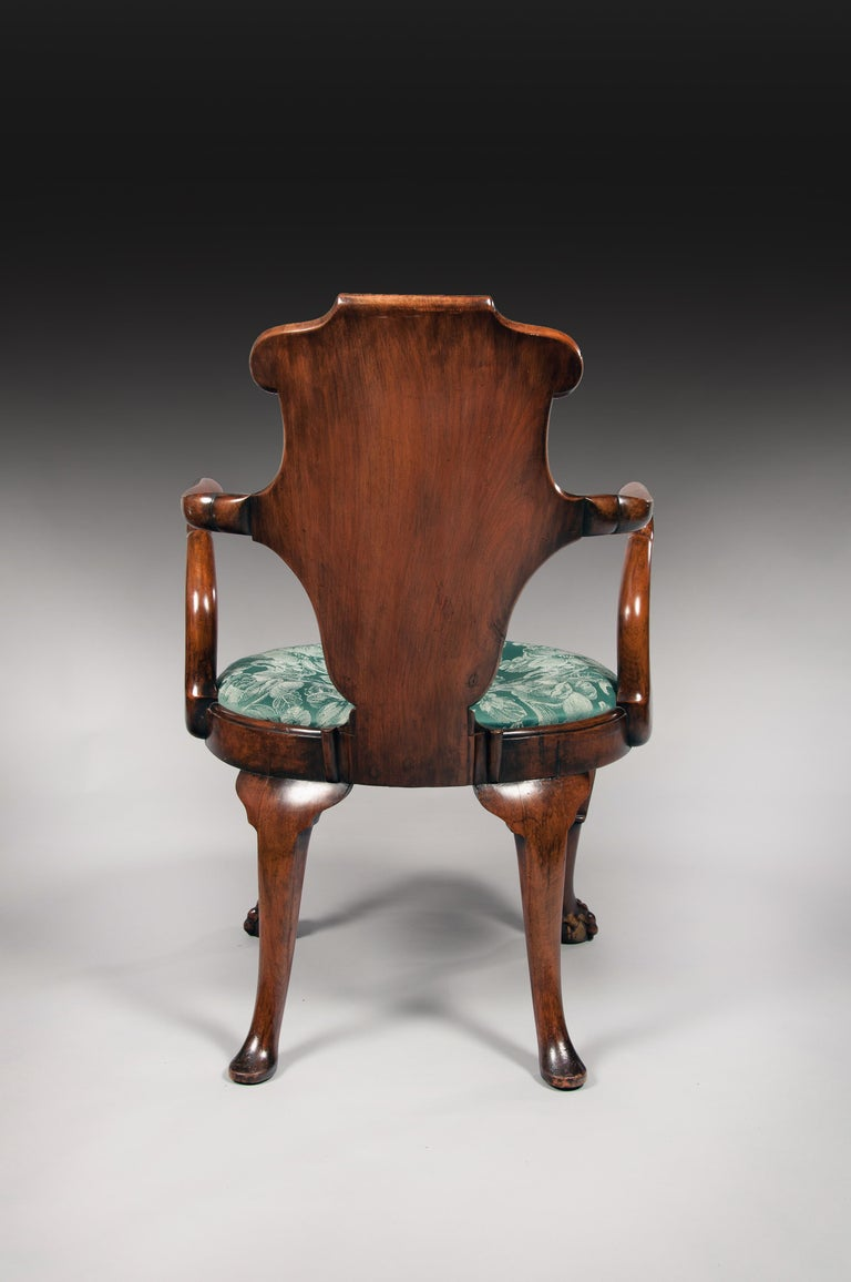 Rare Pair of 19th Century Gillows Walnut and Burr Elm Shepherds Crook Armchairs For Sale 6