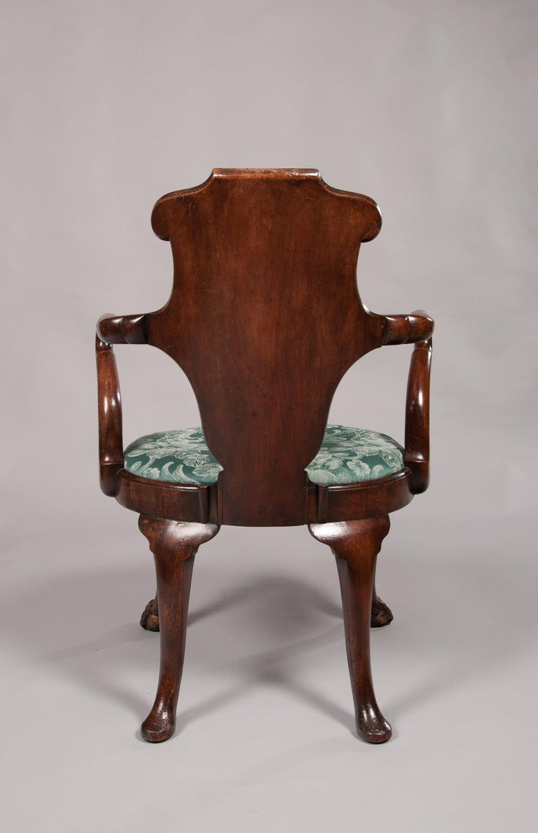 Rare Pair of 19th Century Gillows Walnut and Burr Elm Shepherds Crook Armchairs For Sale 9