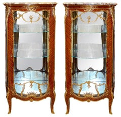 Rare Pair of 19th Century Vitrines by Francois Linke
