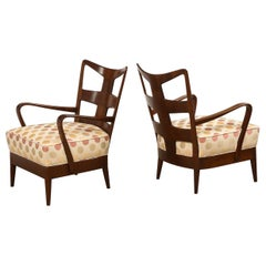 Rare Pair of 6575 Open Armchairs by Osvaldo Borsani