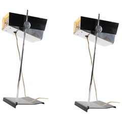 Rare Pair of Adjustable Table Lamps by Josef Hurka for Napako / 1960s