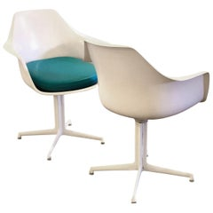Rare Pair of Arm Swivel Chairs by Maurice Burke Space Age Era