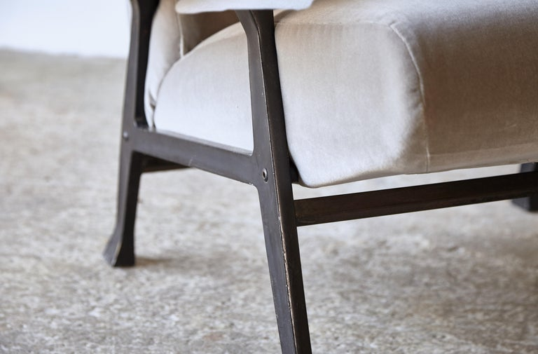 Rare Pair of Authentic 1950s Roberto Menghi Hall Chairs, Arflex, Italy 6