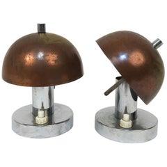 Rare Pair of Bauhaus 1930s Table Lamps Franta 'Frantisek' Anyz e Jaroslav
