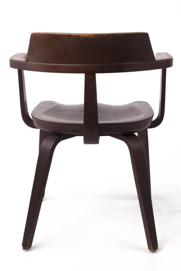 Nutwood Rare Pair of Bauhaus W199 Chairs by Walter Gropius For Sale