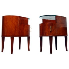 Rare Pair of Bedside Tables or Nightstands by Axel Larsson Produced by SMF