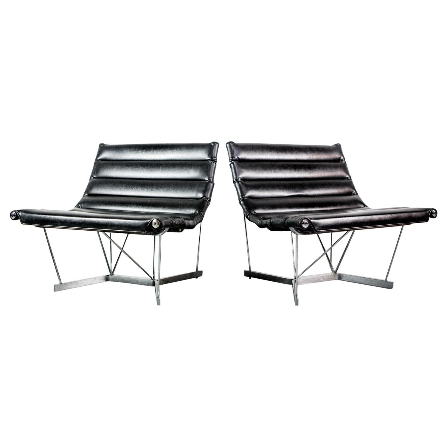 Rare Pair of Catenary Chairs by George Nelson for Herman Miller