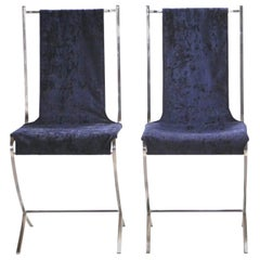 Rare Pair of Chairs by Pierre Cardin for Maison Jansen, 1970s