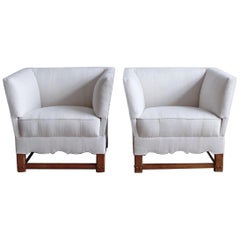 "Rare Pair of Chairs from ""The Spanish Set"" by Elias Barup"