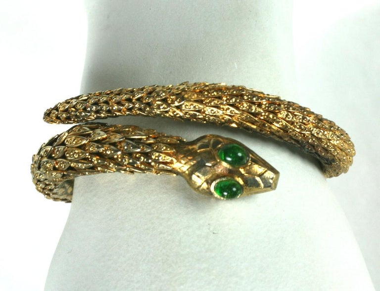 Rare Pair of Chanel Haute Couture Snake Bangles, Maison Goossens For Sale 3