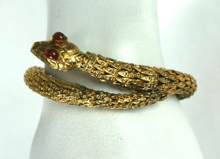 Rare Pair of Chanel Haute Couture Snake Bangles, Maison Goossens For Sale 4