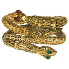 Rare Pair of Chanel Haute Couture Snake Bangles, Maison Goossens