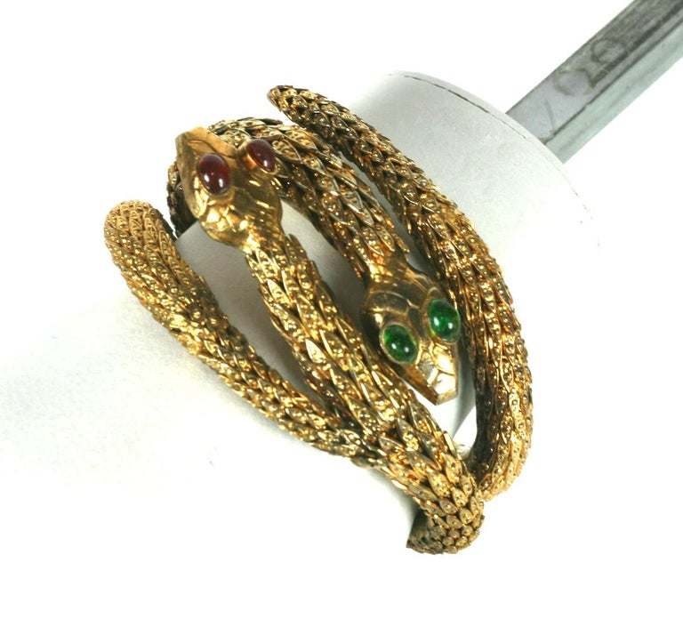 Baroque Revival Rare Pair of Chanel Haute Couture Snake Bangles, Maison Goossens For Sale