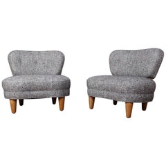 Rare Pair of Dunbar Slipper Chairs by Edward Wormley