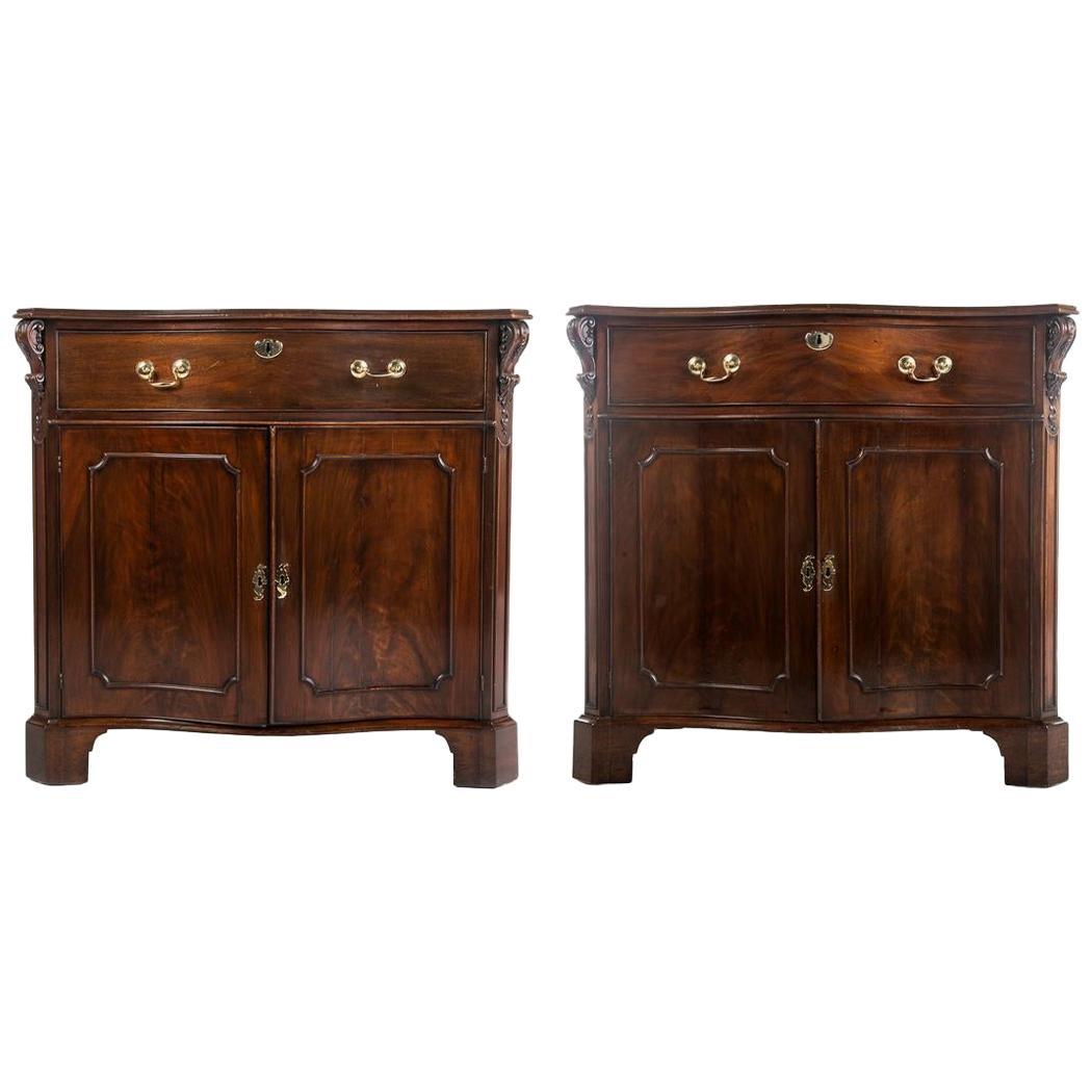 Rare Pair of Early 19th Century Regency Mahogany Cabinets