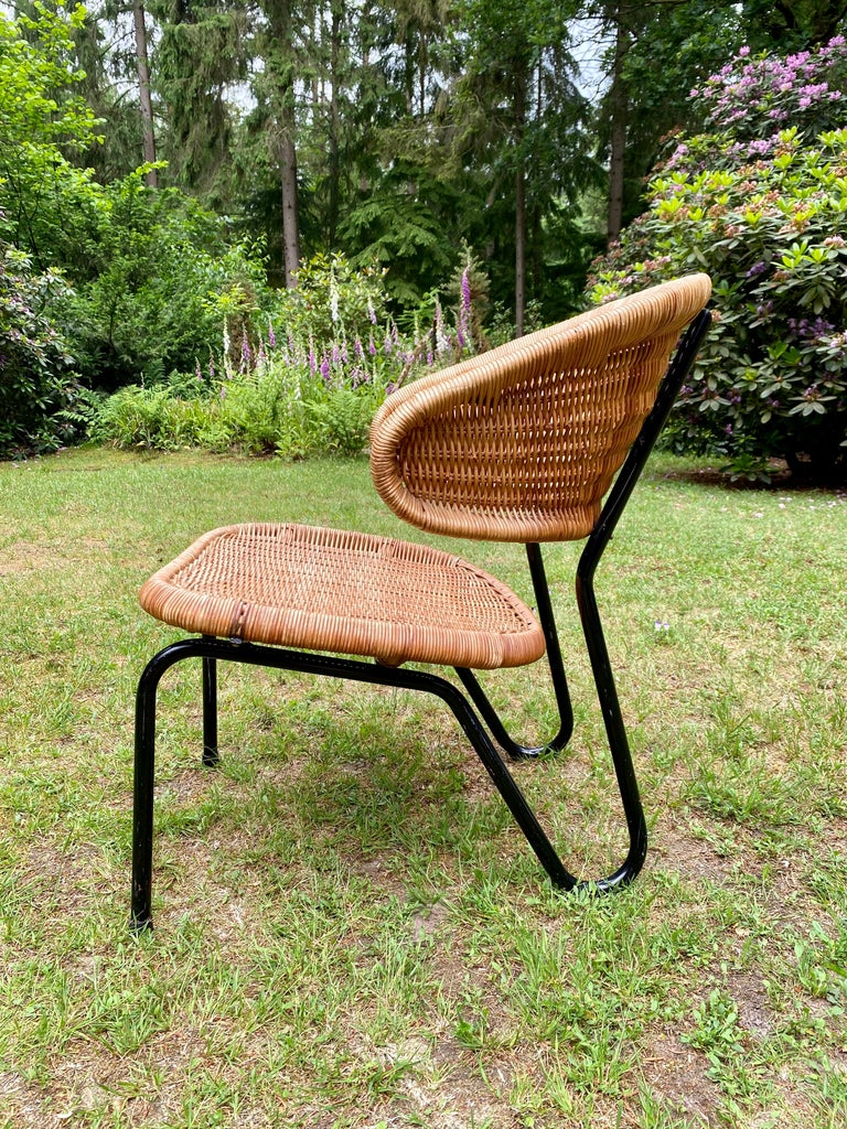 Mid-20th Century Rare Pair of Easy Chairs, Model 568, Designed by Dirk van Sliedregt, 1954 For Sale