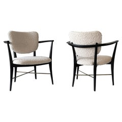 Rare Pair of Edward Wormley for Dunbar 5305 Armchairs