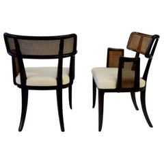 Rare Pair of Edward Wormley for Dunbar Caneback Side Chairs