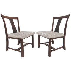 "Rare Pair of Edward Wormley for Dunbar ""Greene & Greene"" Side Chairs"