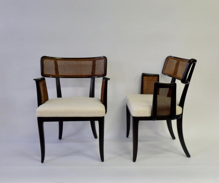 Mid-Century Modern Rare Pair of Edward Wormley for Dunbar Side Chairs For Sale