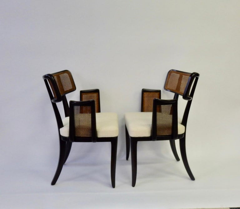 American Rare Pair of Edward Wormley for Dunbar Side Chairs For Sale