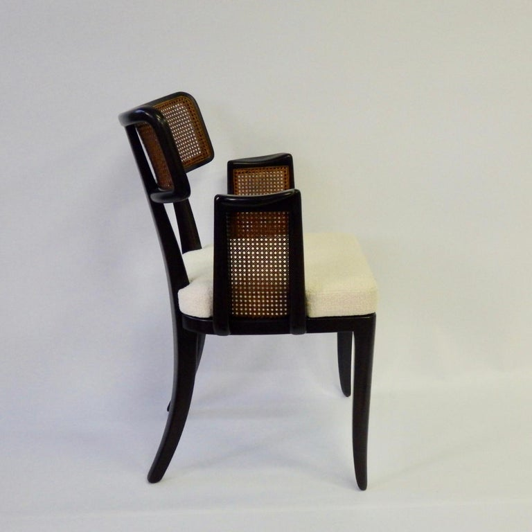 20th Century Rare Pair of Edward Wormley for Dunbar Side Chairs For Sale