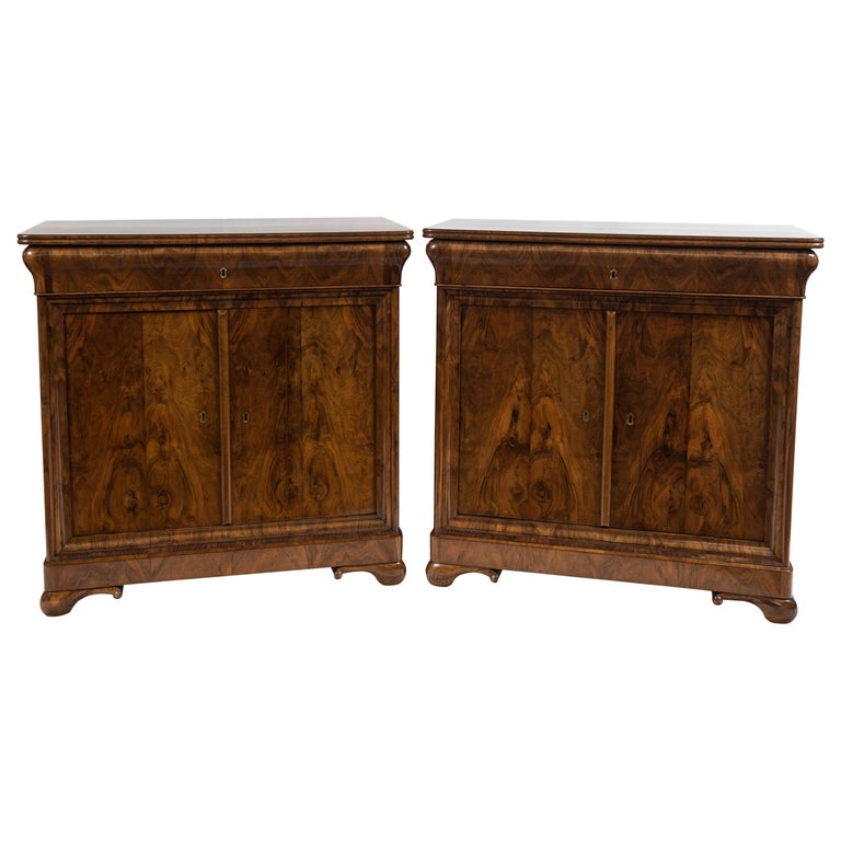 Rare Pair of Fine French Louis-Philippe Cabinets For Sale