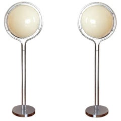 Rare Pair of Floor Lamps by Garrault and Delord, France, 1971