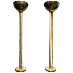 Rare Pair of Floor Lamps by Maison Charles
