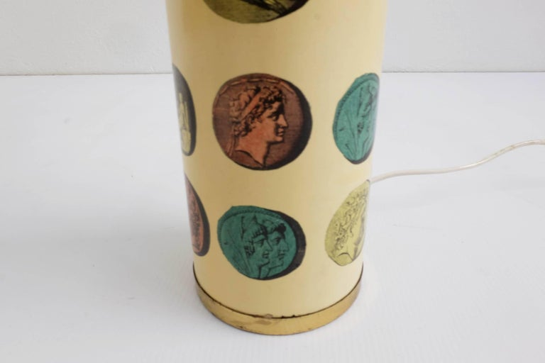 Rare Pair of Fornasetti Table Lamps Mod. Cammei, Italy, 1968 For Sale 1