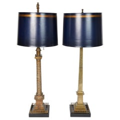 Rare Pair of French Bronze Grand Tour Models of Paris Monuments