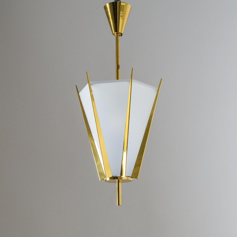 Rare Pair of French Modernist Lanterns by Arlus, circa 1960 For Sale 4