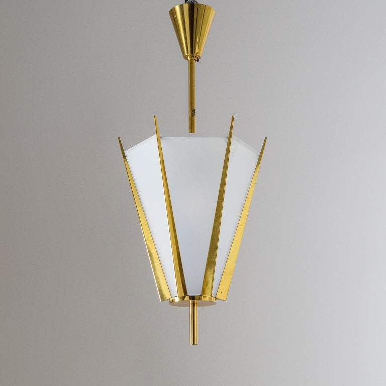 Rare Pair of French Modernist Lanterns by Arlus, circa 1960 For Sale 6
